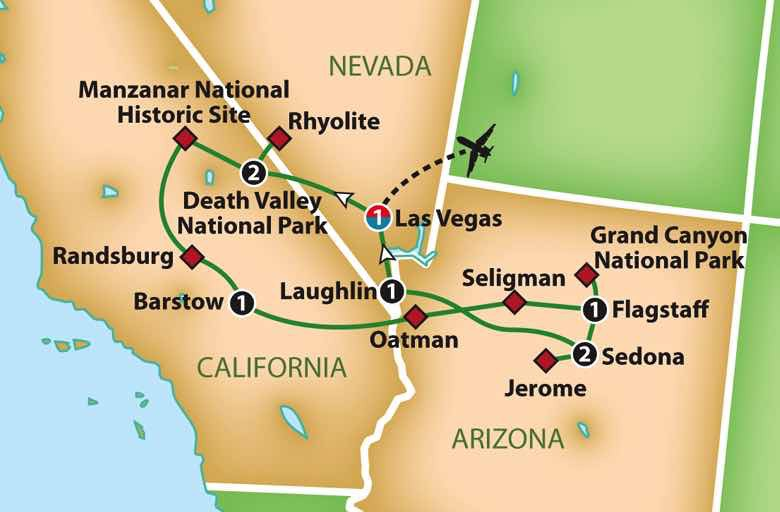 Map Of Arizona Ghost Towns.Mayflower Cruises Tours Guided Holidays