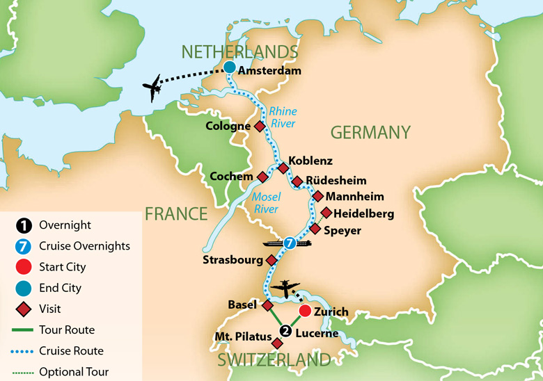 Mosel River Germany Map.Mayflower Cruises Tours Guided Holidays