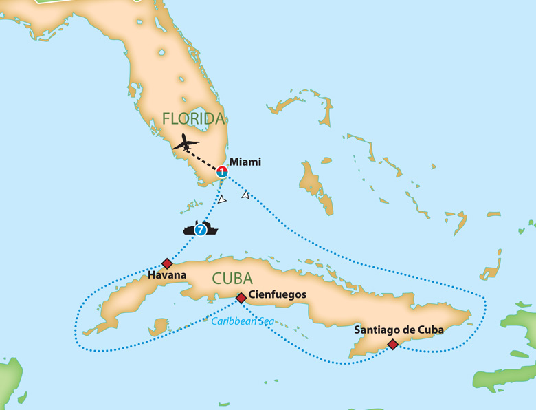 Cuba To Florida Map.Mayflower Cruises Tours Guided Holidays