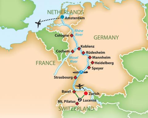 Romantic Rhine and Mosel River Cruise